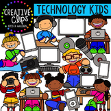 Technology Kids {Creative Clips Digital Clipart}