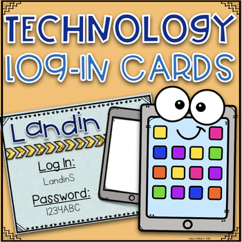 Technology Log In Cards~ EDITABLE!