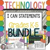Technology I Can Statements K-5 BUNDLE {2016 Update}