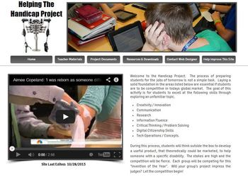 Technology Project:  Helping the Handicapped