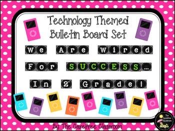 Bulletin Board Set: Technology Themed Back To School Board