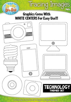Technology Tracing Image Clipart Set — Includes 20 Graphics!
