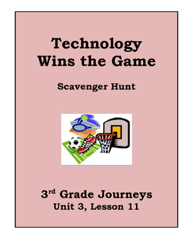 Technology Wins the Game Scavenger Hunt, 3rd Grade Journey