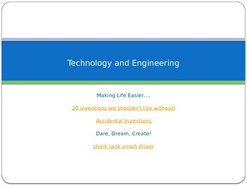 Technology and Engineering Concept Powerpoint