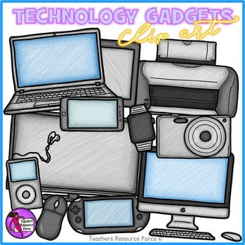 #JanTpTClipLove Technology clip art: gadgets for the offic