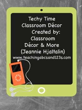 Techy Time Decor (Gray, Orange, Green and Teal)