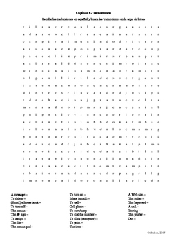 Tecnomundo Word Search (Asi se dice 2: Chapter 6)