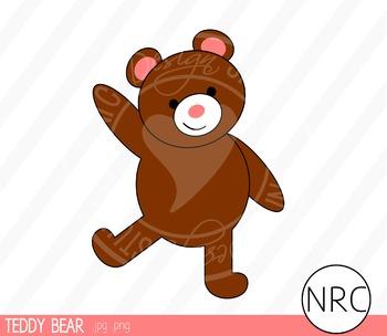 Teddy Bear Clip Art - Commercial Use Clipart