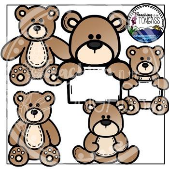 Teddy Bear Clipart Bundle