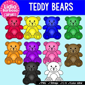Teddy Bear Counters { Clip Art for Teachers }