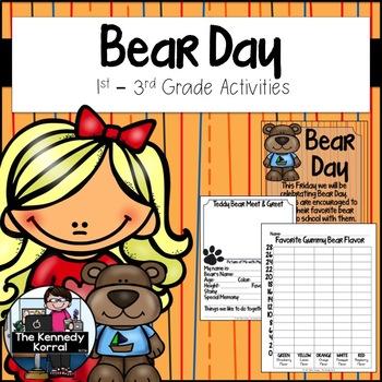 Bear Day Activities {No Prep - Low Prep Activities}