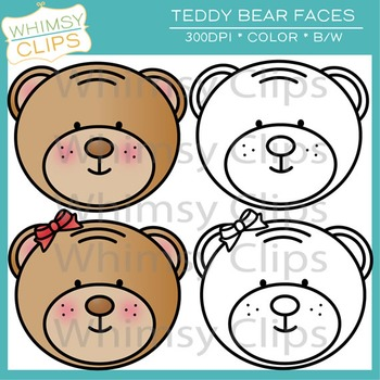 Free Teddy Bear Faces Clip Art