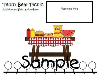 Teddy Bear Picnic Addition and Subtraction Game