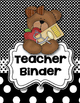 Teddy Bear-Themed Binder Inserts, Spines, Monthly Calendar