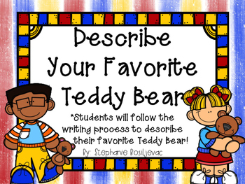 Teddy Bear Writing Station (September Writing)