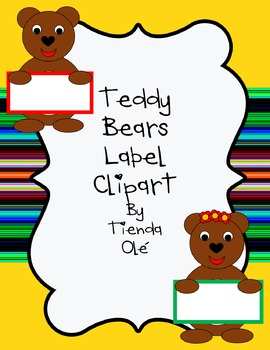 Teddy Bears Label Clipart