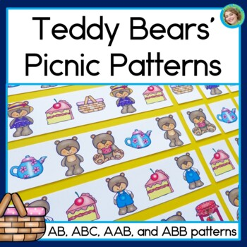 Teddy Bears' Picnic Patterns Math Center with AB, ABC, AAB
