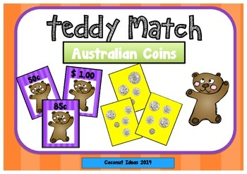 Teddy Match: Australian Coins