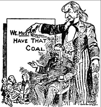 Teddy Roosevelt the Anthracite Coal Strike, Railroad compa