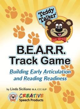 Articulation and Alphabet:  Teddy Talker™ B.E.A.R.R. Track Game