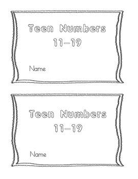 Teen Number Book