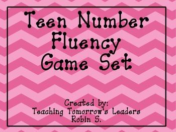 Teen Number Fluency Game Set