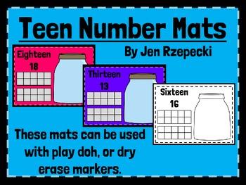 Teen Number Mats-Play Doh & Dry Erase!
