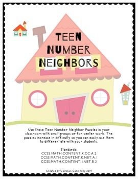 Teen Number Neighbor Puzzle