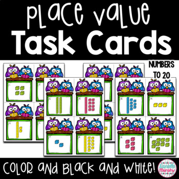 Task Cards--Teen Number Place Value Scoot Game!