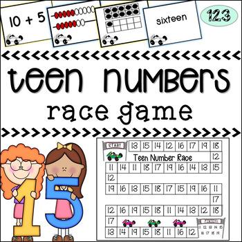 Teen Numbers - Race Game