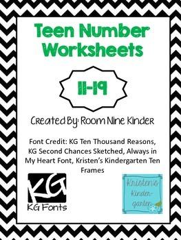 Teen Number Worksheets