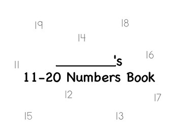Teen Numbers Book (with 11 and 12)