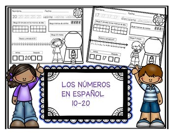 Teen Numbers In Spanish 10-20
