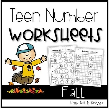 Teen Numbers Printables - Fall