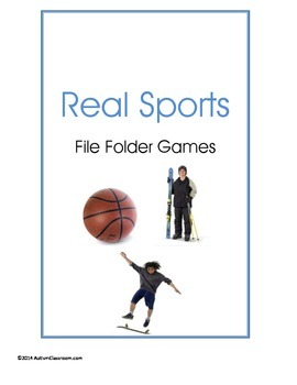 Teen - Real Sports File Folder Games (Real Images) Special