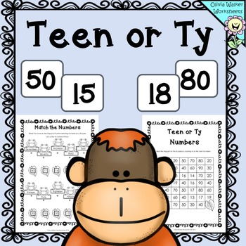 Teen Ty Numbers - To help with Place Value - all Worksheet