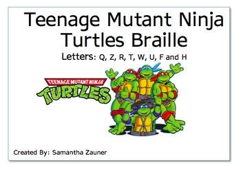 Teenage Mutant Ninja Turtles Braille