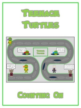 Teenage Turtles Math Folder Game - Common Core - Counting