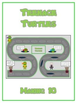 Teenage Turtles Math Folder Game - Common Core - Making Ten