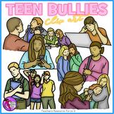 Teens bullying clip art