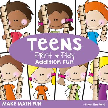 Teens {Math Center} Addition to 20