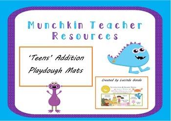 'Teens' Number Addition Playdough Mats