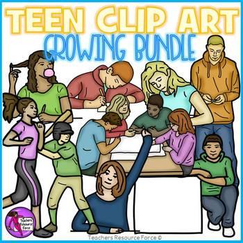 Teenagers Clip Art - growing bundle