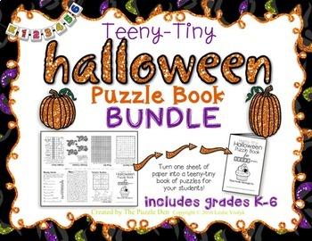 Teeny-Tiny Halloween Puzzle Books BUNDLE