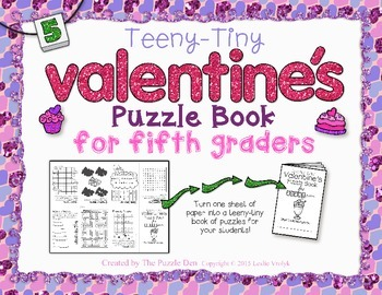 Teeny-Tiny Valentine's Puzzle Book for Fifth Graders