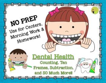 Teeth & Dental Health: NO PREP Math Printables