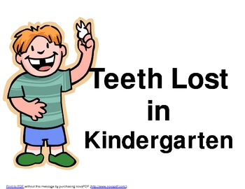 Teeth Lost in Kindergarten Graph