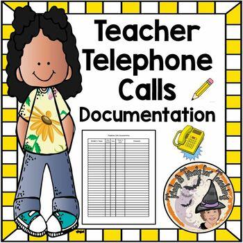 Document Parent Telephone Calls Documentation Form Phone L