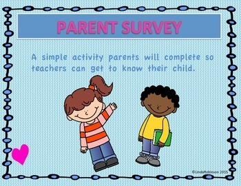 For Parents...Tell Me about your Child