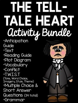 Tell-Tale Heart Activity Packet Reading Comprehension  Wor